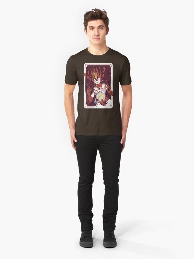 Alternate view of 10 Pentacles: Galactina Slim Fit T-Shirt