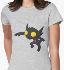 Fake Shiny Sableye (Dark/Electric) Womens Fitted T-Shirt