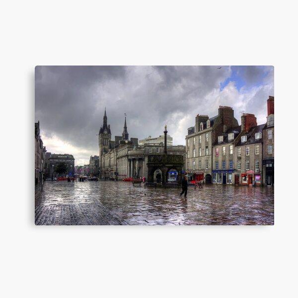 Aberdeen in the rain Canvas Print