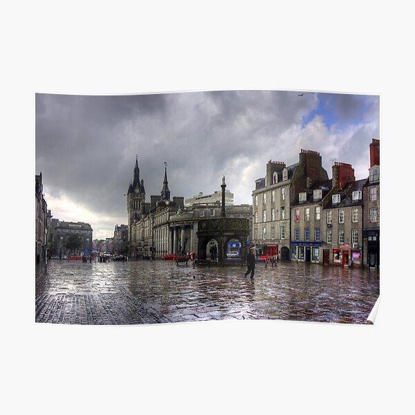 Aberdeen in the rain Poster