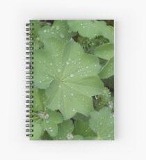 Dew on Leaves Spiral Notebook
