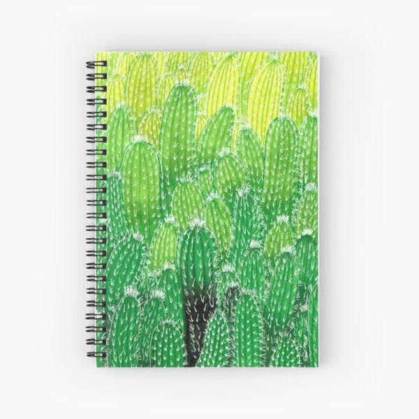 Grüne Kaktusexplosion Spiralblock