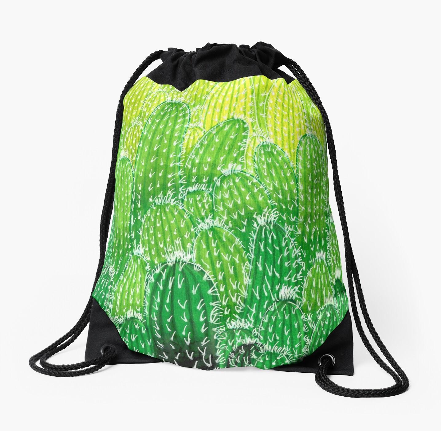 Green cactus explosion by Papierzucker