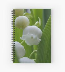 Simply elegant Lily of the Valley Spiral Notebook