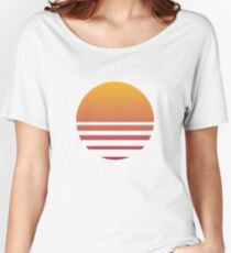 Outrun Retro Sun - Clean Women's Relaxed Fit T-Shirt