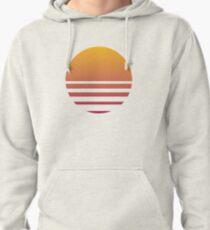 Outrun Retro Sun - Clean Pullover Hoodie