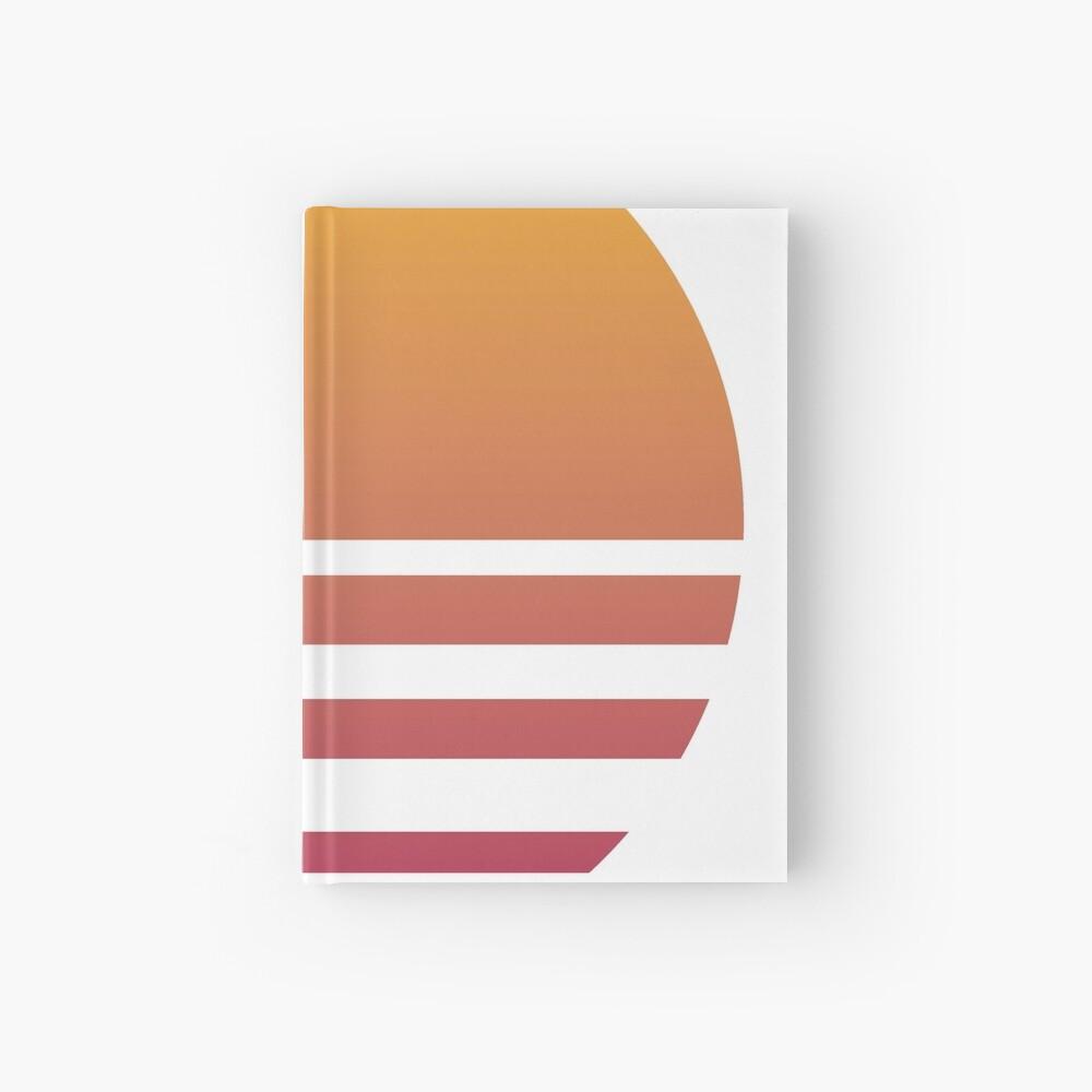 Outrun Retro Sun - Clean Hardcover Journal