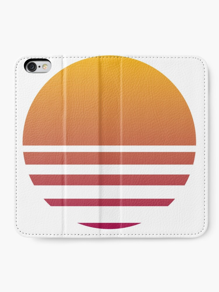 Alternate view of Outrun Retro Sun - Clean iPhone Wallet