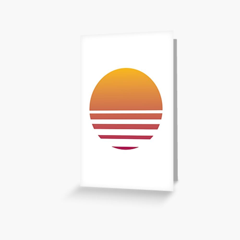 Outrun Retro Sun - Clean Greeting Card