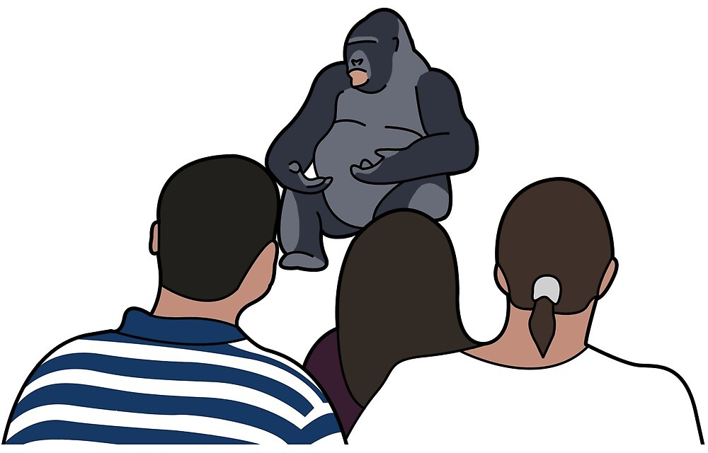 Gorilla saying something important by Oscar Mc Auliffe
