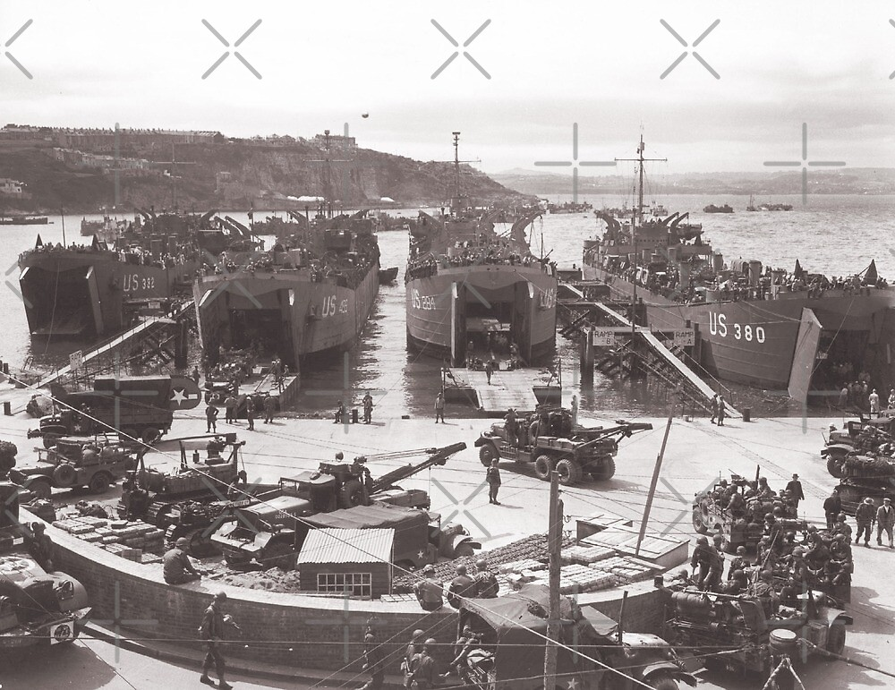 Loading in Preparation for D-Day by diane  addis