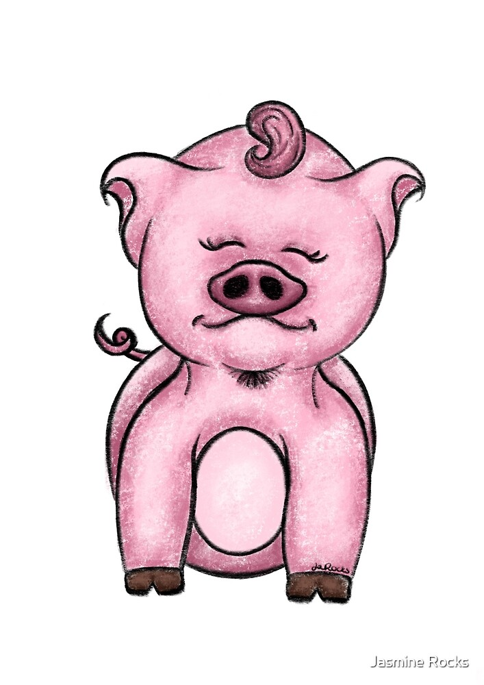 Little Pig / Rocksie Doodles by Jasmine Rocks