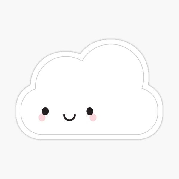 Happy Kawaii Cloud Sticker