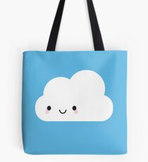 Happy Kawaii Cloud Tote Bag