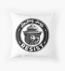 "Smokey Says ""RESIST"" Throw Pillow"