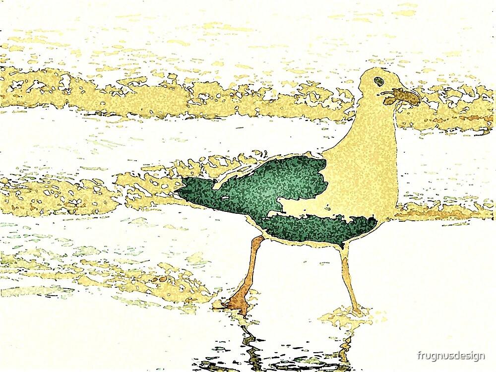 Beach Walking Seagull by frugnusdesign