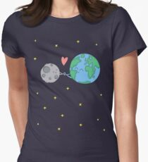 BFF Earth - Moon Womens Fitted T-Shirt