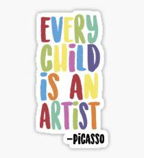 Every Child Is An Artist Sticker