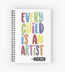 Every Child Is An Artist Spiral Notebook