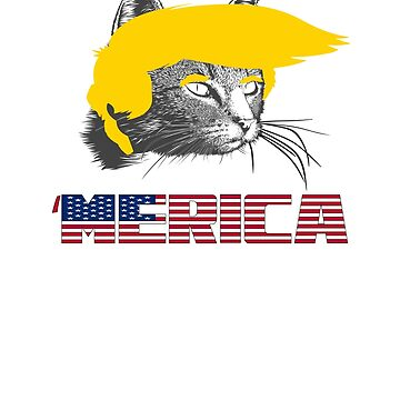 Cat Trump 'Merica 4th of July by Rydoggy