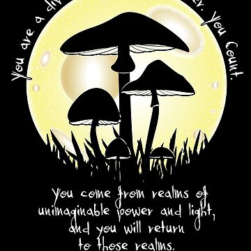 Mushrooms in Moonlight ~ Terrence McKenna Quote by merrypranxter