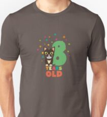 Eight Years 8th Birthday Party Cat R14m7 Unisex T-Shirt