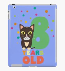 Eight Years 8th Birthday Party Cat R14m7 iPad Case/Skin