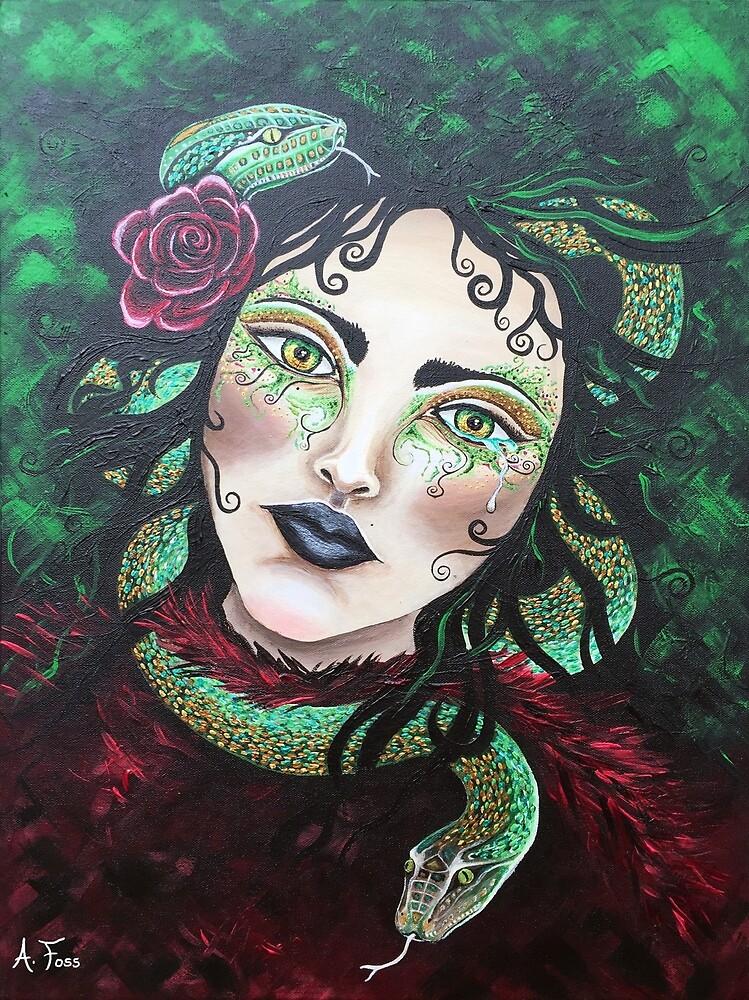 """""""Priestess Of Athena"""" by AmandaFossArt"""