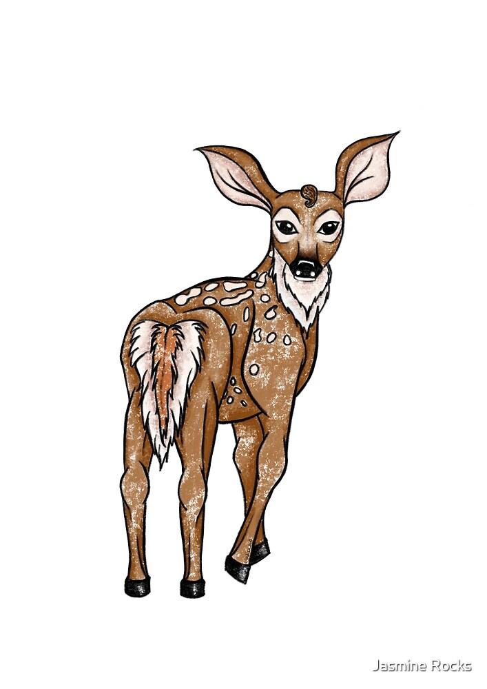 Little Deer / Rocksie Doodles by Jasmine Rocks