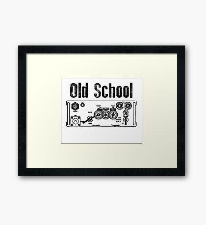 Old School PRC 77 Framed Print