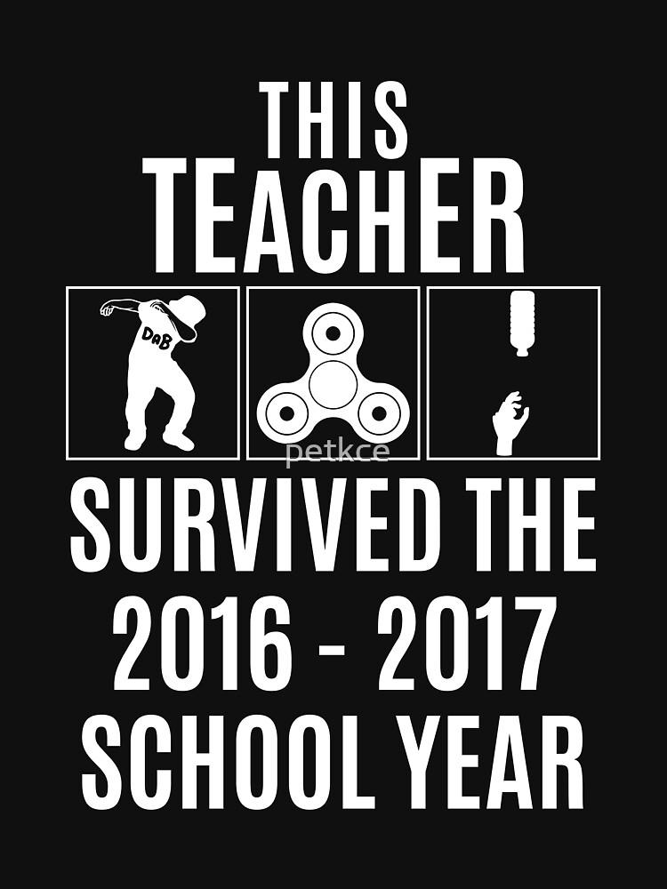 This Teacher Survived Shirt - White | Unisex T-Shirt