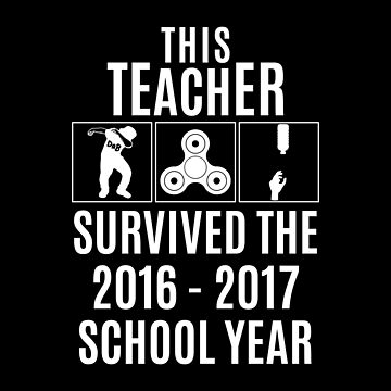 This Teacher Survived Shirt - White by petkce