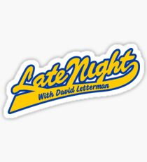 LATE NIGHT WITH DAVID LETTERMAN Sticker
