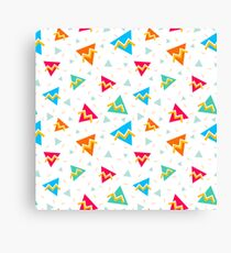 Retro pattern in 90s style. Canvas Print