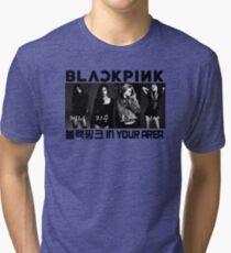 BLACKPINK 블랙핑크 - B/W BlackPink In Your Area Tri-blend T-Shirt