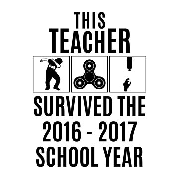 This Teacher Survived Shirt - Black by petkce