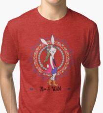 Free And Wild Hippy Design - Retro Groovy Gift Idea Tri-blend T-Shirt