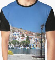 Halki Harbour Panorama Graphic T-Shirt