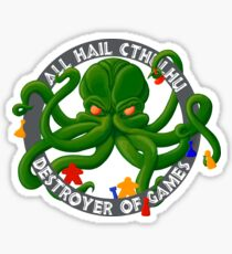 Cthulhu - Destroyer of Games Glossy Sticker