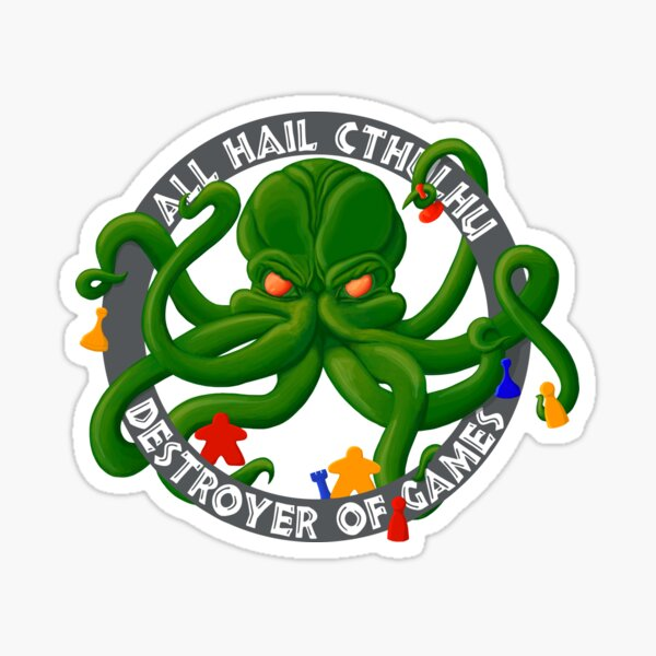 Cthulhu - Destroyer of Games Sticker