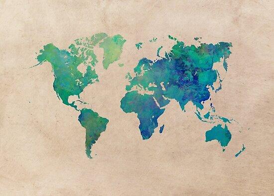 world map 95 green #worldmap #map by JBJart