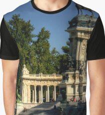 Camiseta gráfica Monumento en el Parque del Buen Retiro