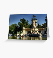 Monument in Buen Retiro Park Greeting Card