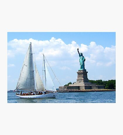 Summer in the City, New York Harbour Photographic Print