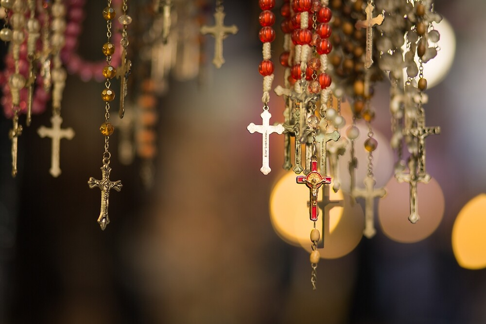 Christian cross and rosaries by Layuee