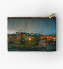 Rain Drops on a Window Studio Pouch