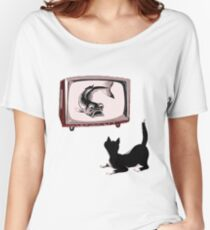 Fish and Cat  Women's Relaxed Fit T-Shirt