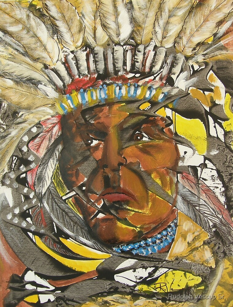 Indian Chief by Rudolph Vessup Sr.