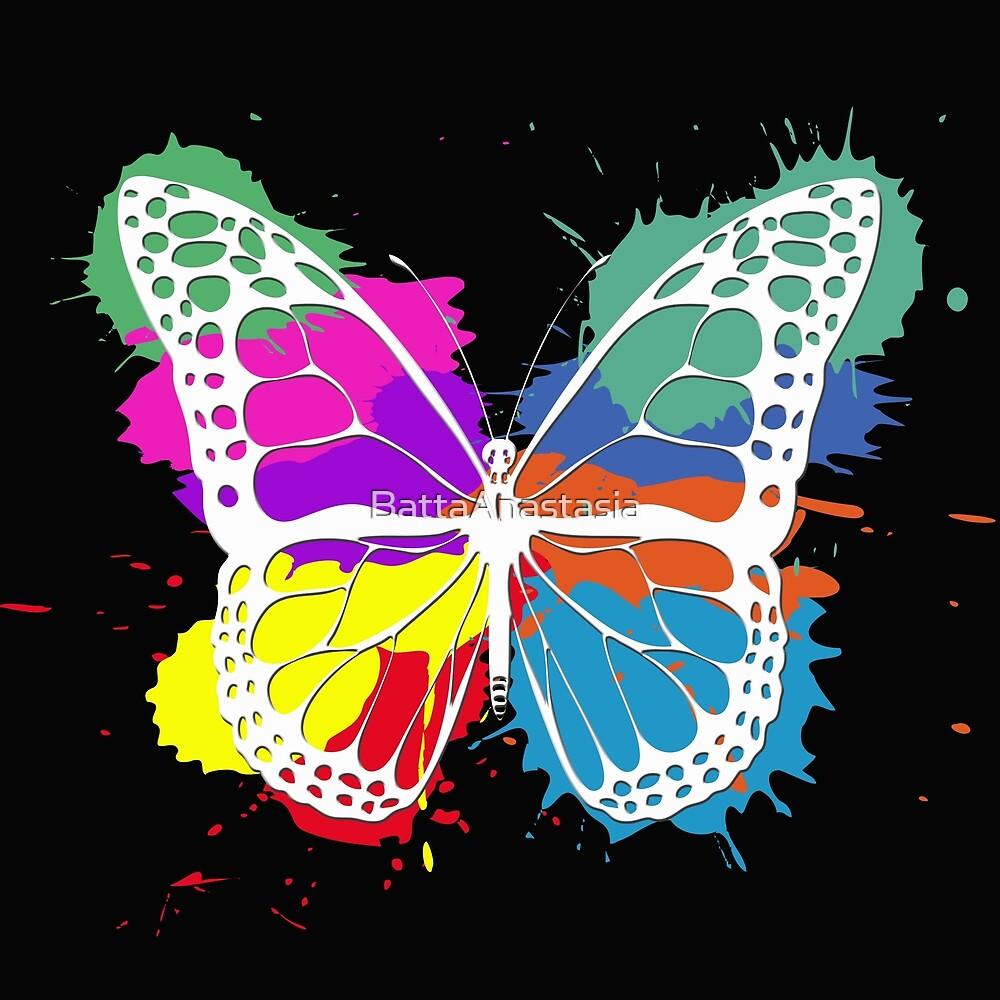 Grunge butterfly by BattaAnastasia