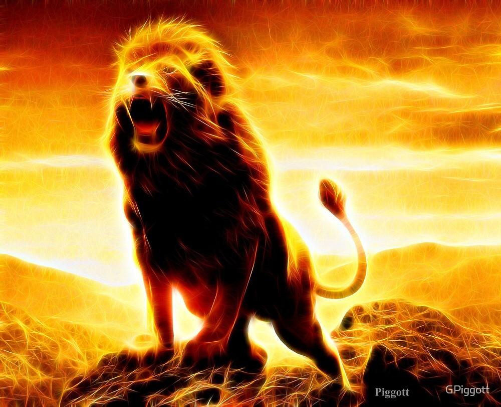 Lion roar by GPiggott